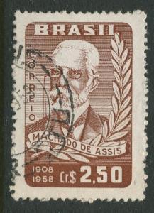 Brazil - Scott 882 - Joaquim Machado -1958 - Used - Single 2.50cr Stamp