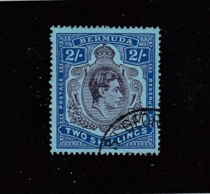 BERMUDA SG #116b VF-2/- KGV1 BROKEN LEAF VARIETY KEY ISSUE CV $115 or £90+