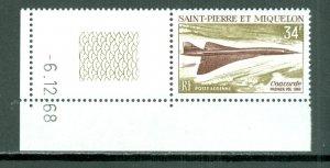 ST.PIERRE & MIQUELON  CONCORDE  CORNER STAMPS...#C40...MNH...$32.50