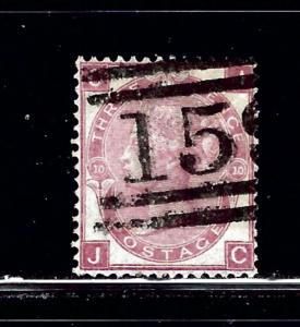 Great Britain 49 Plate #10 Used 1867 issue