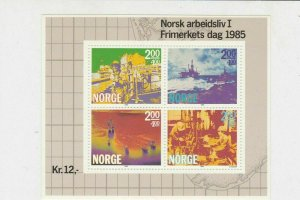Norway 1985 Scenes Mint Never Hinged Stamps Sheet ref R17748
