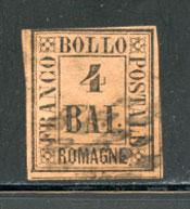 ROMAGNA, Scott #5, Sassone #5, Used, Cat. $357.50