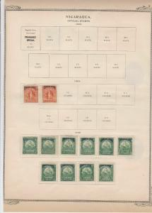 nicaragua stamps on album page ref r11830