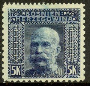 BOSNIA AND HERZEGOVINA 1906 5K FRANZ JOSEPH P.12.5x9.25x 9.25 x12.5Sc 45c NH MNH