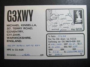 10500 Amateur Radio QSL Card COVENTRY WARWICKSHIRE ENGLAND