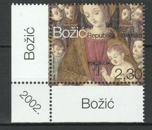 Croatia 2002 Christmas MNH stamp