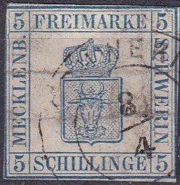 Mecklenburg-Schwerin #3 Used  CV $275.00  (Z3051)