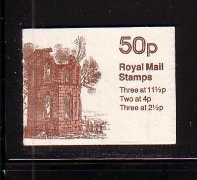 Great Britain Sc BK236  Mugdock Castle 50 p booklet NH