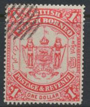 North Borneo  SG 47 Used   Scarlet  please see scans & details