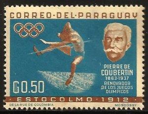Paraguay 1963 Scott# 740 MH  (album paper remnants)