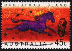 Christmas Island: SC#434 45¢ Chinese New Year: Year of the Horse (2002) Used
