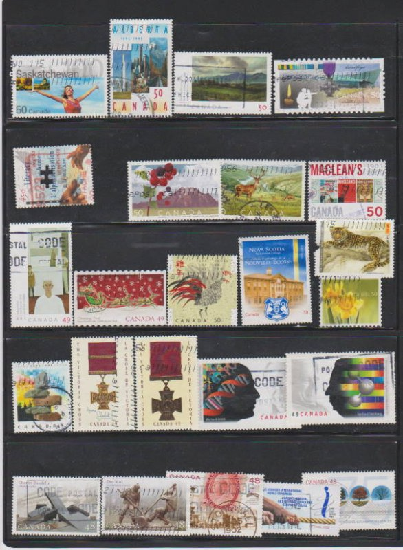 LOT OF DIFFERENT STAMPS OF CANADA USED(28) LOT#318