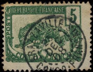 A.E.F. / CONGO-FRANÇAIS - 1908 - CAD DE BRAZZAVILLE SUR Yv. 30