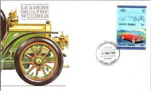 Tuvalu, Worldwide First Day Cover, Automobiles