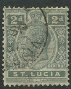 St. Lucia - Scott 80 - KGV - Definitive -1921 - Used -Single 2p Stamp