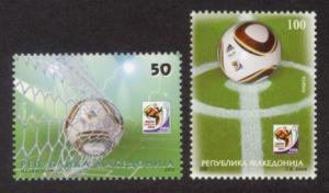 Macedonia Sc# 525-6 MNH FIFA World Cup 2010