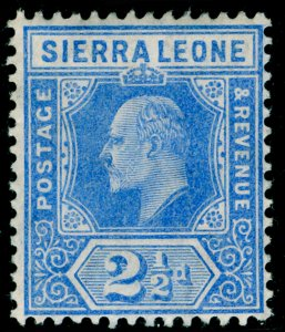 SIERRA LEONE SG103, 2½d blue, VLH MINT.