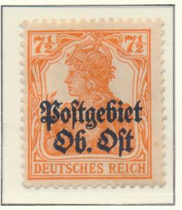 German Occupation South Lithuania Stamp Scott #4, Mint Hinged - Free U.S. Shi...