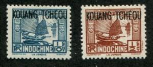 Kwangchowan SC# 99, 102 Junk 1/10c 1/2c  MH