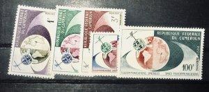 Cameroun 380-383 C/Set MNH VF PLUS Airmail issue telecommunications