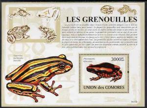 Comoro Islands MNH S/S Frogs Reptiles 2009