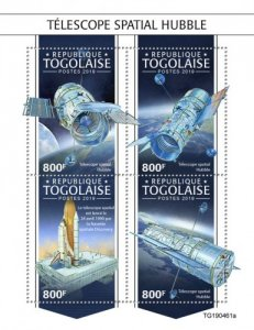 TOGO - 2019 - Hubble Space Telescope - Perf 4v Sheet  - M N H