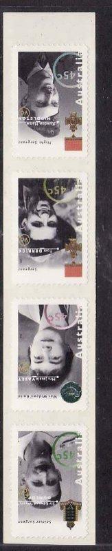 Australia-Sc#1439b- id5-unusedNH self-adhesives-Military-Medals-1995-