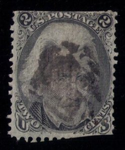 1868 - US SCOTT #84 USED D GRILL DAMAGED PERFORATIONS TOP & BOTTOM