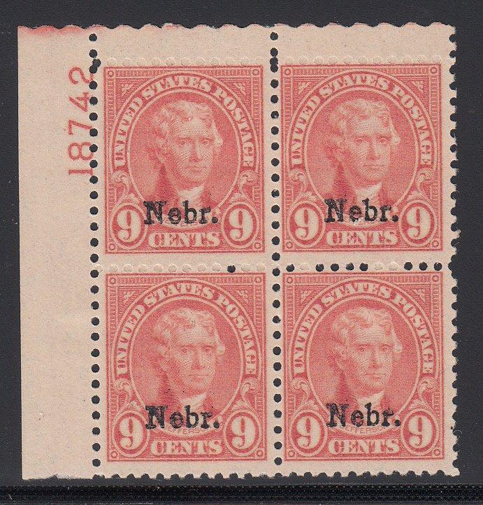 US #678 Fine OG LH Plate block RH Vert pair NH!