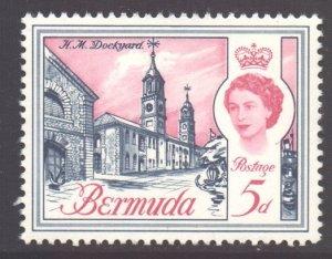 Bermuda Scott 179 - SG167 1962 Elizabeth II 5d MNH**