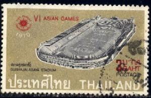 6th Asian Games, Bangkok, 1970, Thailand stamp SC#555 used