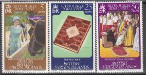 British Virgin Islands, Sc 317-319, MNH, 1977, Silver Jubilee