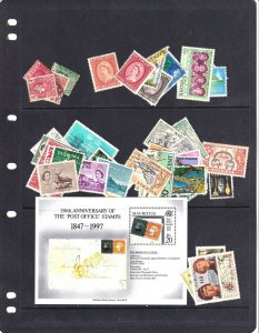 MAURITIUS ST VINCENT AND MORE SOME NH PACKED STOCK PAGE COLLECTION LOT $$$$$$$