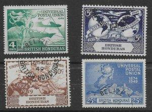 BRITISH HONDURAS SG172/5 1949 U.P.U. SET USED