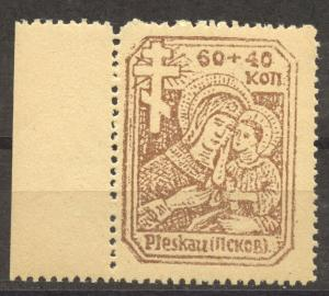 German Occupation 1941 Pleskow, Russia, Lot of 3 MNH,