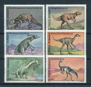 [106161] Romania 1994 Prehistoric animals dinosaurs  MNH