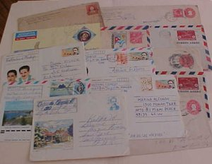 CUBA  ENTIRES 10 DIFF. FROM 1920 MOSTLY TO USA