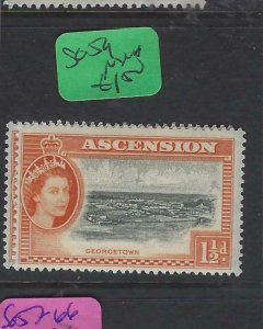 ASCENSION (PP2501B)  QEII  1 1/2D     SG  59     MNH