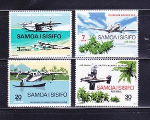 Samoa C3-C6 Set MNH Planes