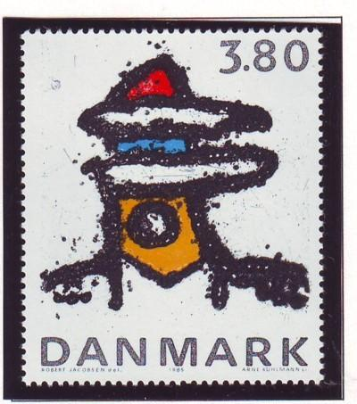 Denmark Sc 788 1985 Abstract Sculpture stamp mint NH
