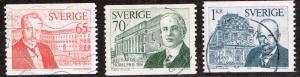 Sweden # 1103 - 1105 U
