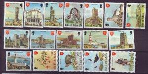 J21974 Jlstamps 1978 isle of man set mnh #113-29 designs