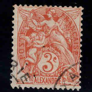 Alexandria Scott 28 Used stamp, nicely centered and corner canceled
