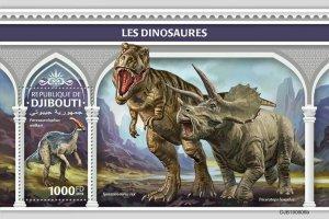 Z08 IMPERF DJB190606b Djibouti 2019 Dinosaurs MNH ** Postfrisch