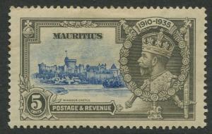 Mauritius - Scott 204 - Silver Jubilee -1935 - MH -Single 5c Stamp