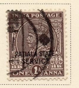 Indian States Patiala 1935-36 Early Issue Fine Used 1a. Optd 084681