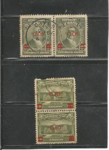 #358 President Vincent Pair & #359 National Capital Pair Postal Used