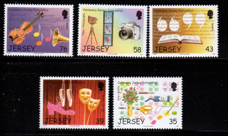 Jersey Sc 1306-10 2008 Festivals stamp set mint NH
