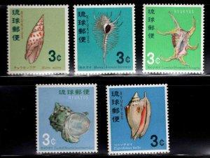 RYUKYU Scott 157-161 MNH** shell set
