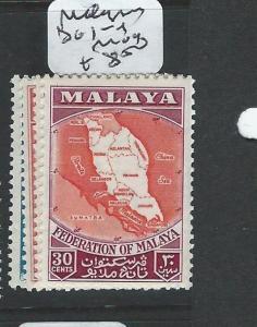 MALAYA MALAYA FEDERATION (P1008B) SG1-4  MOG